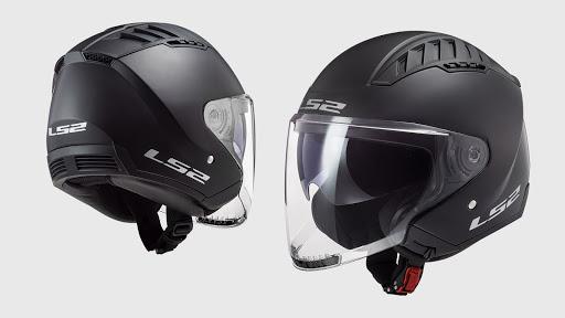 Thiết kế nón bảo hiểm 3/4 đen tuyền ấn tượng